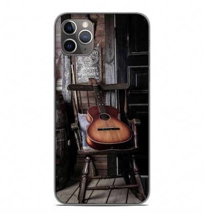 Coque en silicone Apple iPhone 11 Pro Max - Guitare
