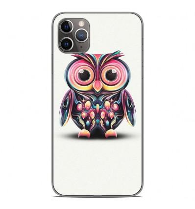 Coque en silicone Apple iPhone 11 Pro Max - Hiboux coloré