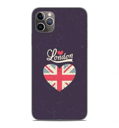 Coque en silicone Apple iPhone 11 Pro Max - I love London