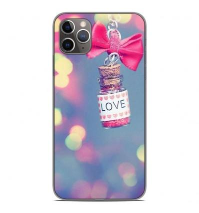 Coque en silicone Apple iPhone 11 Pro Max - Love noeud rose