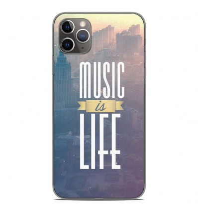 Coque en silicone Apple iPhone 11 Pro Max - Music is life