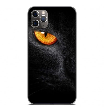 Coque en silicone Apple iPhone 11 Pro Max - Oeil de Panterre