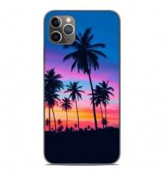 Coque en silicone Apple iPhone 11 Pro Max - Palmiers colorés