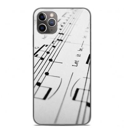 Coque en silicone pour Apple iPhone 11 Pro Max - Partition de musique