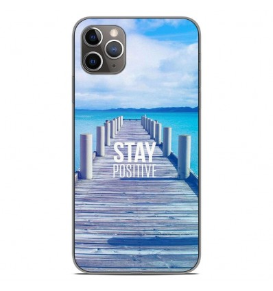 Coque en silicone Apple iPhone 11 Pro Max - Stay positive