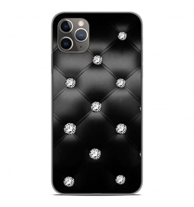 Coque en silicone Apple iPhone 11 Pro Max - Strass