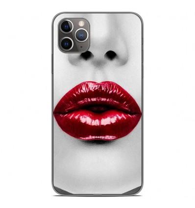 Coque en silicone Apple iPhone 11 Pro Max - Lèvres Rouges