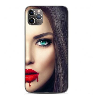 Coque en silicone Apple iPhone 11 Pro Max - Lèvres Sang