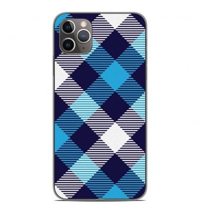 Coque en silicone Apple iPhone 11 Pro Max - Tartan Bleu