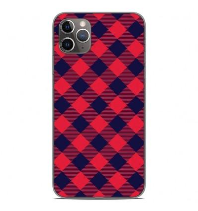 Coque en silicone Apple iPhone 11 Pro Max - Tartan Rouge