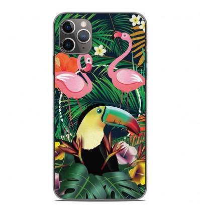 Coque en silicone Apple iPhone 11 Pro Max - Tropical Toucan