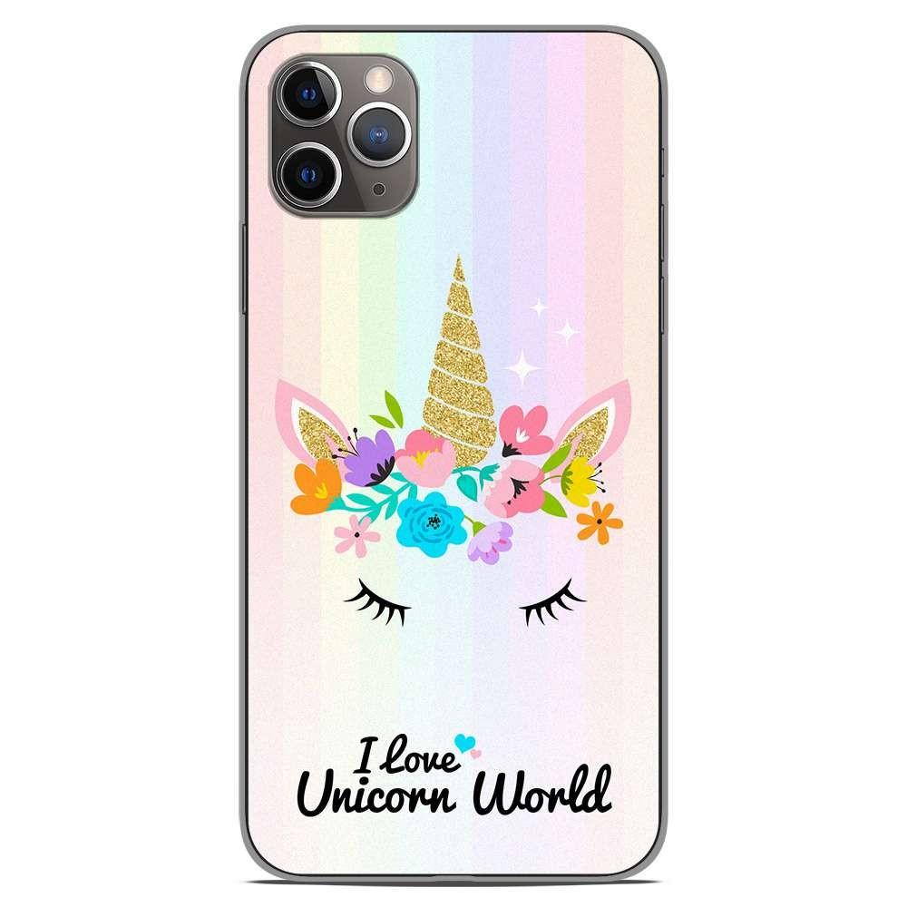 coque en silicone apple iphone 11 pro max unicorn world