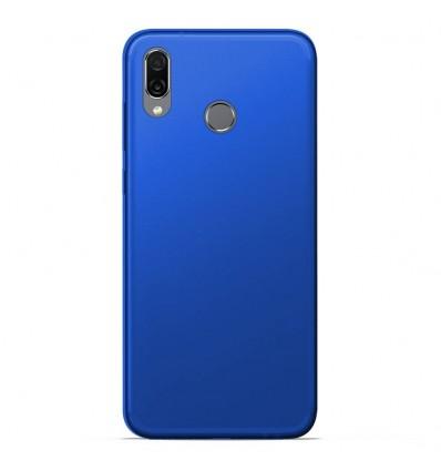 Coque Huawei Honor play Silicone Gel givré - Bleu Translucide