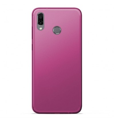 Coque Huawei Honor play Silicone Gel givré - Rose Translucide
