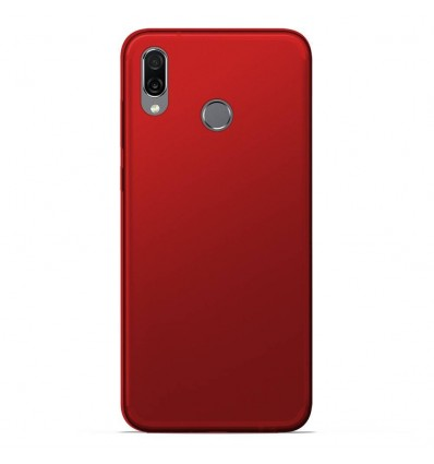 Coque Huawei Honor play Silicone Gel givré - Rouge Translucide