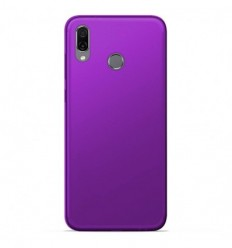Coque Huawei Honor play Silicone Gel givré - Violet Translucide