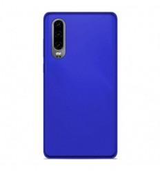 Coque Huawei P30 Silicone Gel givré - Bleu Translucide