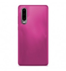 Coque Huawei P30 Silicone Gel givré - Rose Translucide
