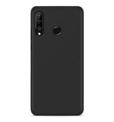 Coque Huawei P30 Lite Silicone Gel givré - Noir
