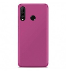 Coque Huawei P30 Lite Silicone Gel givré - Rose Translucide