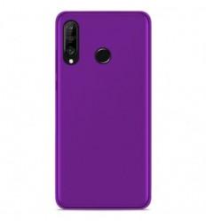Coque Huawei P30 Lite Silicone Gel givré - Violet Translucide