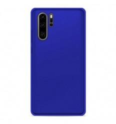 Coque Huawei P30 Pro Silicone Gel givré - Bleu Translucide