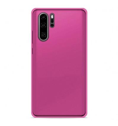 Coque Huawei P30 Pro Silicone Gel givré - Rose Translucide