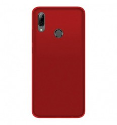 Coque Huawei P Smart 2019 Silicone Gel givré - Rouge Translucide