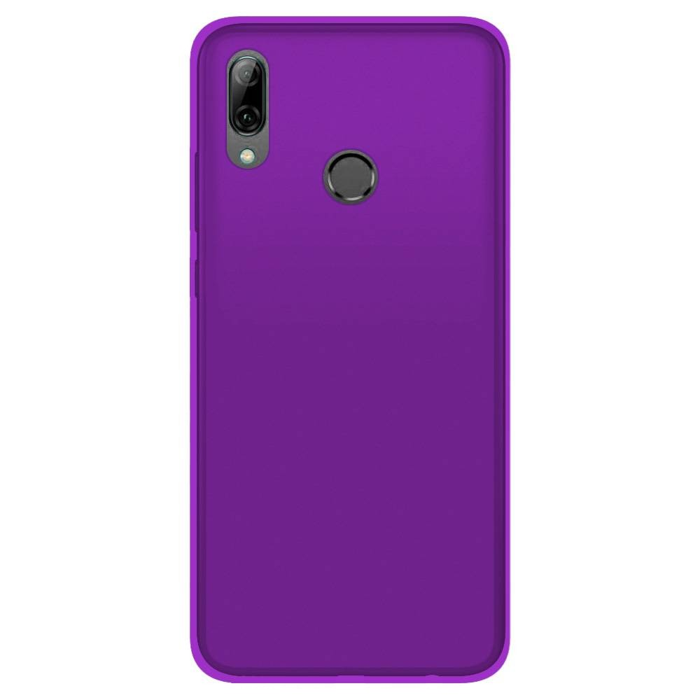 Coque Huawei P Smart 2019 Silicone Gel givré - Violet Translucide