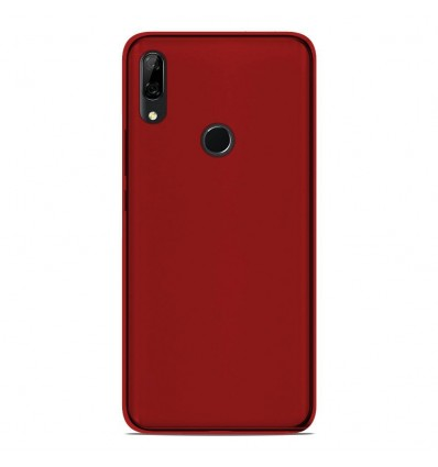 Coque Huawei P Smart Z Silicone Gel givré - Rouge Translucide