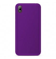 Coque Huawei Y5 2019 Silicone Gel givré - Violet Translucide