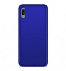 Coque Huawei Y6 2019 Silicone Gel givré - Bleu Translucide