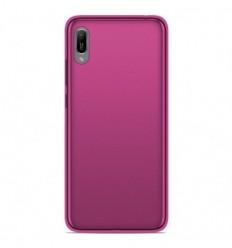 Coque Huawei Y6 2019 Silicone Gel givré - Rose Translucide