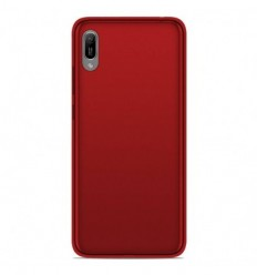 Coque Huawei Y6 2019 Silicone Gel givré - Rouge Translucide