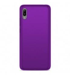Coque Huawei Y6 2019 Silicone Gel givré - Violet Translucide