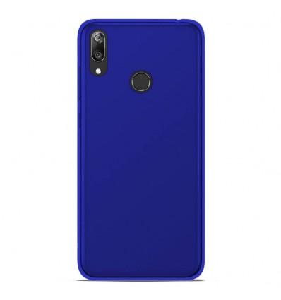 Coque Huawei Y7 2019 Silicone Gel givré - Bleu Translucide