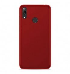 Coque Huawei Y7 2019 Silicone Gel givré - Rouge Translucide