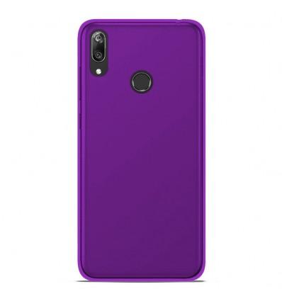 Coque Huawei Y7 2019 Silicone Gel givré - Violet Translucide