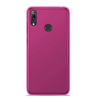 Coque Samsung Galaxy A10 Silicone Gel givré - Rose Translucide