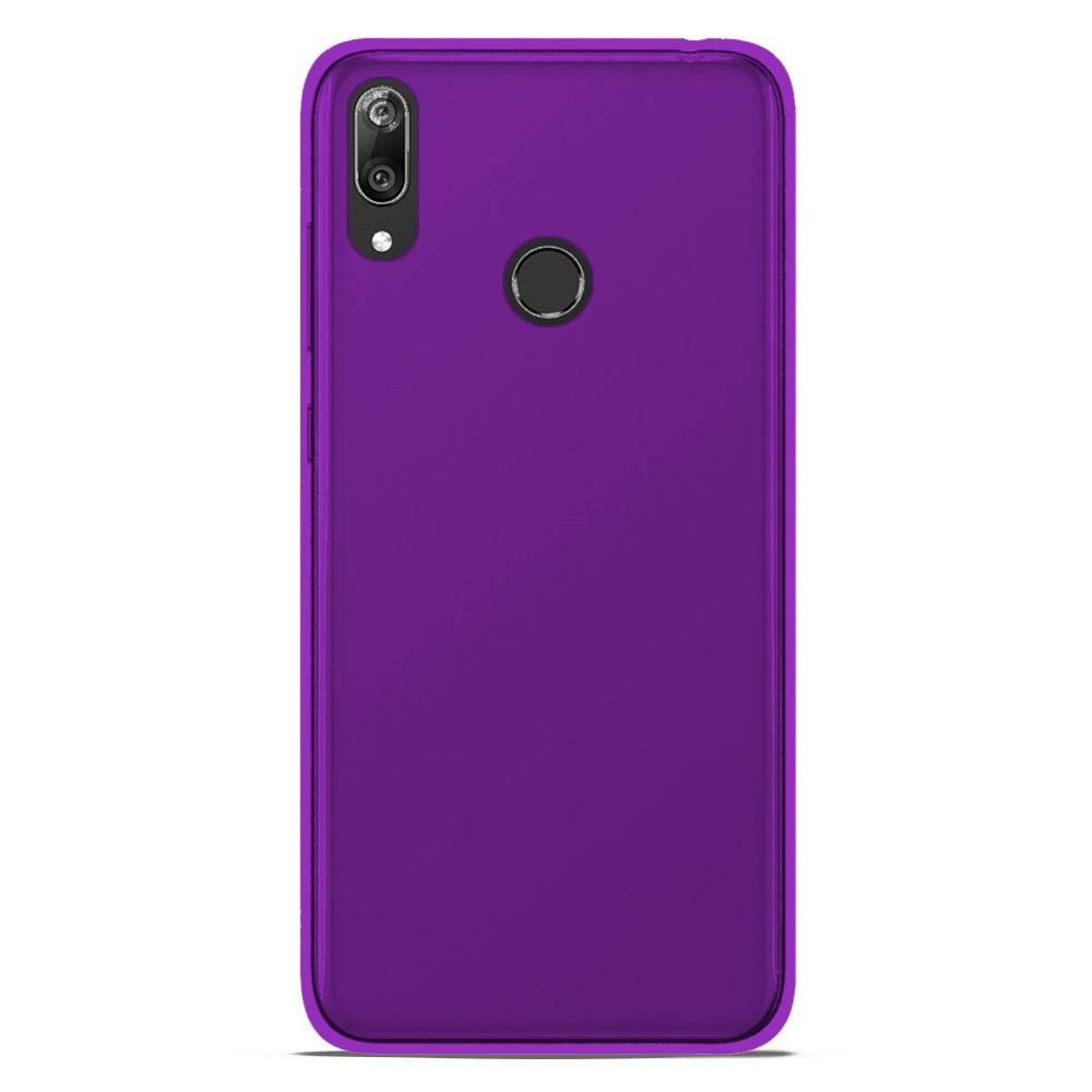 Coque Samsung Galaxy A10 Silicone Gel givré - Violet Translucide