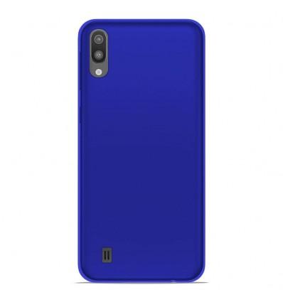 Coque Samsung Galaxy M10 Silicone Gel givré - Bleu Translucide