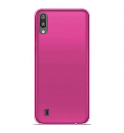 Coque pour Samsung Galaxy M10 Silicone Gel givré - Rose Translucide