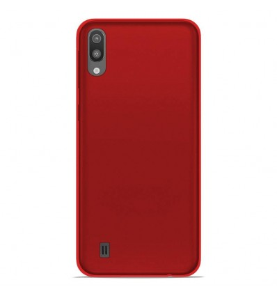 Coque Samsung Galaxy M10 Silicone Gel givré - Rouge Translucide