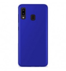 Coque Samsung Galaxy A20e Silicone Gel givré - Bleu Translucide