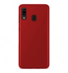 Coque Samsung Galaxy A20e Silicone Gel givré - Rouge Translucide