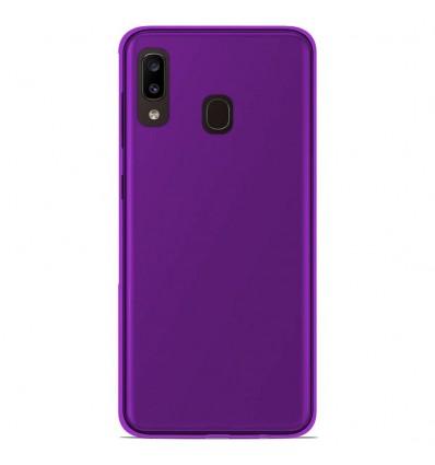 Coque Samsung Galaxy A20e Silicone Gel givré - Violet Translucide