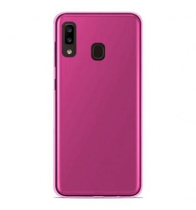 Coque Samsung Galaxy A20/A30 Silicone Gel givré - Rose Translucide