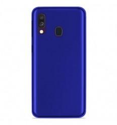 Coque Samsung Galaxy A40 Silicone Gel givré - Bleu Translucide