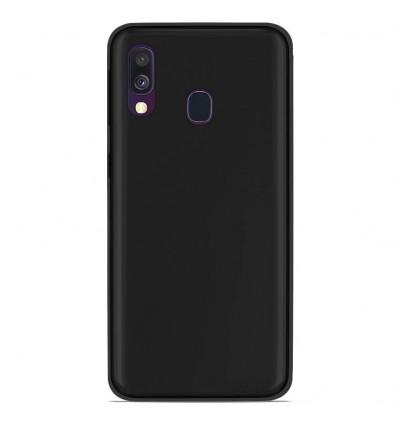 Coque Samsung Galaxy A40 Silicone Gel givré - Noir