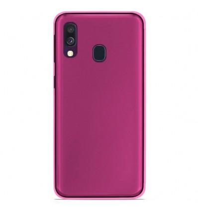 Coque Samsung Galaxy A40 Silicone Gel givré - Rose Translucide